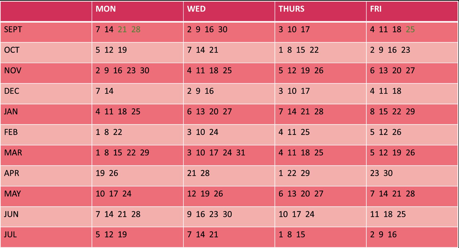 term dates 20-21